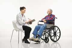 Doctor with patient. Royalty Free Stock Image