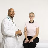 Doctor with patient. Royalty Free Stock Images