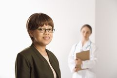 Doctor and patient. royalty free stock photo