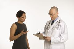 Doctor and patient. Royalty Free Stock Photos