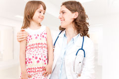 Doctor and patient - child Stock Photo