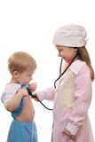 Doctor and patient, child's play Stock Photography
