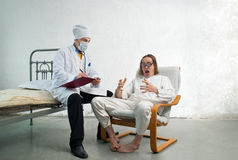 Doctor and patient Stock Photos