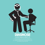 Doctor With Patient Diagnose Concept Black Symbol Stock Image