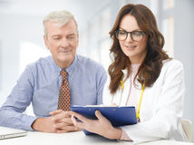 Doctor and patient Royalty Free Stock Photography