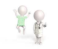 Doctor and patient in good mood Royalty Free Stock Photos