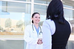 Doctor and Patient Handshake Royalty Free Stock Photo