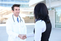 Doctor and Patient Handshake Royalty Free Stock Images