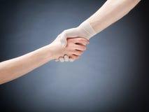 Doctor and Patient Handshake stock photos