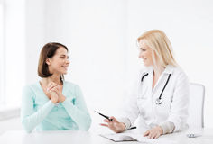 Doctor with patient in hospital Royalty Free Stock Photo