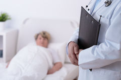 Doctor and patient in hospital Royalty Free Stock Images