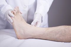 Doctor patient medical examination Stock Images