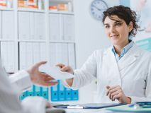Doctor and patient meeting in the office royalty free stock image