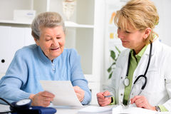 Doctor and patient Royalty Free Stock Photos