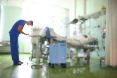 Doctor in the patient ward, unfocused background Royalty Free Stock Photography