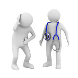 Doctor and patient on white background Stock Photo