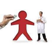 Doctor and patient on white Stock Images