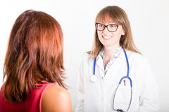 Doctor with patient Stock Photos