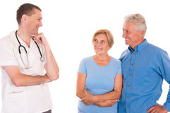 doctor and patients Stock Images