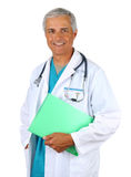 Doctor with Patients Chart Stock Image