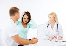 Doctor with patients in hospital Royalty Free Stock Photography