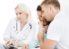 Doctor with patients in hospital Royalty Free Stock Photo