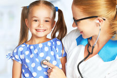 Doctor pediatrician and child patient Stock Image