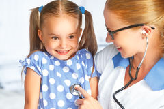 Doctor pediatrician and child patient Stock Photo