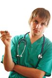 Doctor with pen Royalty Free Stock Photos
