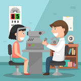 Doctor performing physical examination illustration Royalty Free Stock Photos
