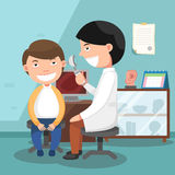 Doctor performing physical examination illustration Stock Images