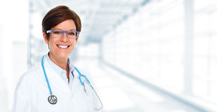 Doctor pharmacist woman. Stock Image