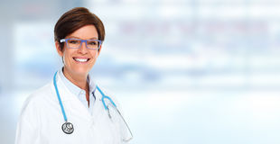 Doctor pharmacist woman. Stock Photography