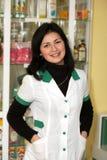Doctor at pharmacy Royalty Free Stock Photos
