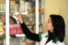 Doctor at pharmacy Royalty Free Stock Image