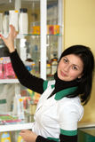 Doctor at pharmacy Royalty Free Stock Photography