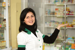 Doctor at pharmacy Stock Photography
