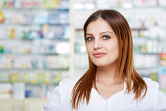 Doctor in pharmacy Royalty Free Stock Photos