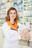 Doctor in pharmacy Stock Photography
