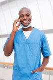 Doctor on the phone. Stock Photos