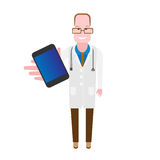 Doctor with phone Stock Photo