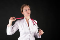 Doctor with a phonendoscope Stock Photography