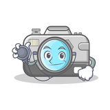 Doctor photo camera character cartoon Stock Photography