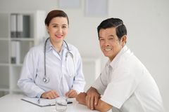 At a doctor Stock Image