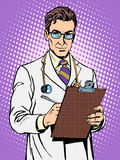 Doctor physician with stethoscope Stock Photography