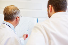 Doctor and physician training together. Analyzing graph Stock Photography