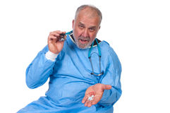 Doctor with pills Royalty Free Stock Image