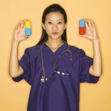 Doctor and pills. Royalty Free Stock Photography