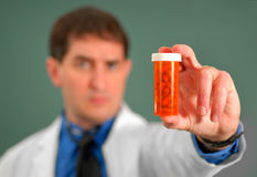Doctor with Pills stock photos