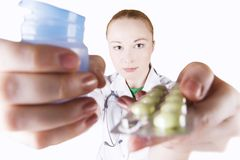 Doctor with pills Royalty Free Stock Photography